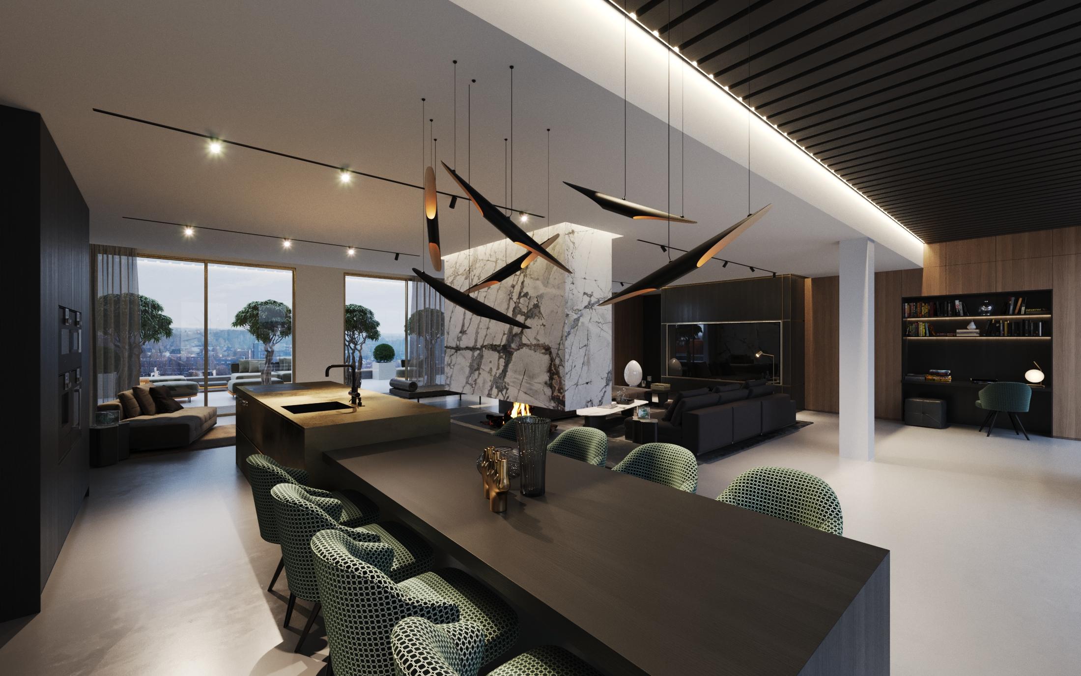 Penthouse met luxe inrichting, DUIN INTERIOR Groningen