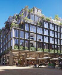 Mercado Groningen luxe appartementen met groene gevel aan de Rode Weesshuisstraat