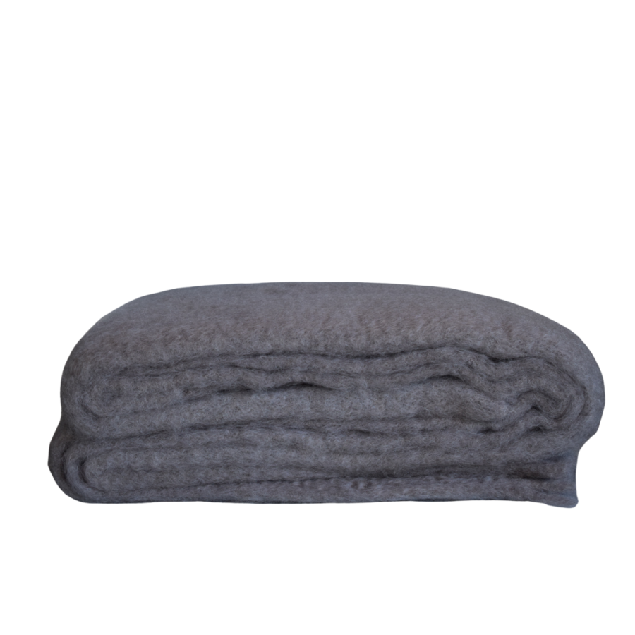 Nilson beds plaid mohair taupe